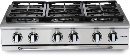 "Capital GRT366L 36"" PRECISION Series Liquid Propane Sealed Burner Style Cooktop"