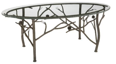 Stone County Ironworks 904-126 Pine Oval Coffee Table