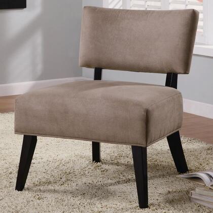 Coaster 460502 Armless Microfiber Wood Frame Accent Chair