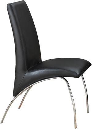 "Coaster Ophelia 21"" Dining Chairs with Metal Frame, Arch Design, High Back and Leatherette Upholstery in"