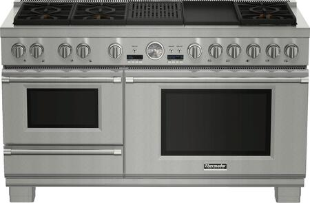 """Thermador PRD606RxSG 60"""" PRO Grand Series Dual Fuel Range with Steam,"""