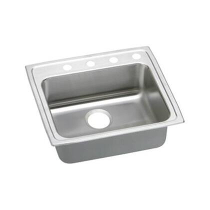 "Elkay LRADQ2219600 22"" Top Mount ADA Compliant Single Bowl 18-Gauge Stainless Steel Sink"