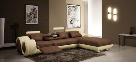 VIG Furniture VGEV4085HL Divani Casa Series Sofa and Chaise Leather Sofa
