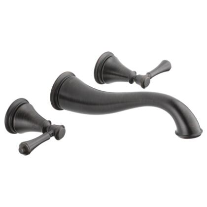 Cassidy T3597LF-RBWL Delta Cassidy: Two Handle Wall Mount Lavatory Faucet Trim in Venetian Bronze