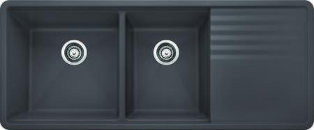 441471 Precis Multi Level 1 75 Bowl w drainer cinder