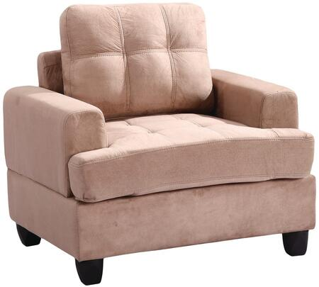Glory Furniture G514AC Suede Armchair in Mocha