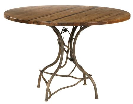 "Stone County Ironworks 904-037 Pine Breakfast Table With 48"" Round"