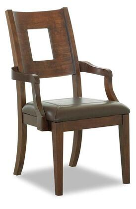 Klaussner 845905 Carturra Series Casual Leather Wood Frame Dining Room Chair