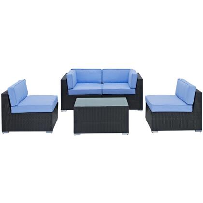 Modway Camfora Collection EEI-694- 5-Piece Outdoor Sectional Set with Coffee Table, Left End Section, Right End Section and Two Armless Chairs in