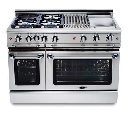 "Capital GCR484GN 48"" PRECISION Series Gas Freestanding |Appliances Connection"
