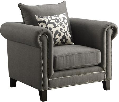 Coaster 504913 Emerson Series Linen Armchair with Wood Frame in Charcoal