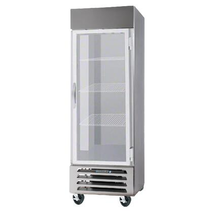 "Beverage-Air FB27-1 27"" Vista Series One Section [Solid Door] Reach-In Freezer, 27 cu.ft. Capacity, Stainless Steel Front, Robust Gray Painted Exterior Sides, Aluminum Interior, with Bottom Mounted Compressor"