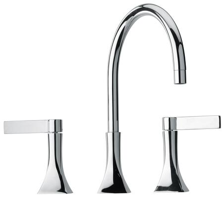 Jewel Faucets 17214XX Two Blade Handle Widespread Lavatory Faucet With Goose Neck Spout