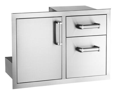 FireMagic 5381XS Flush Mounted Single Access Door with Double Drawers