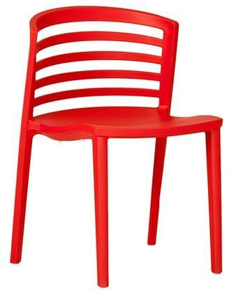 ITALMODERN L3602RED Venezia Series Modern Not Upholstered Plastic Frame Dining Room Chair