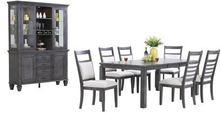 Sunset Trading DLUEL9282C90BH9PC Shades of Gray Dining Room