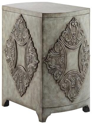 "Stein World Penelope 1334X 29"" Cabinet with Diamond Design, Adjustable Shelf and Hand-painted"