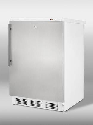 "Summit VT65ML7SSHV24"" Freestanding Upright Counter Depth Freezer"