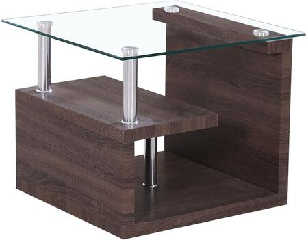 Acme Furniture 80407 Alfie Series Transitional Wood Square None Drawers End Table