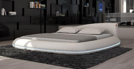 VIG Furniture VGINCERCHIO Modrest Cerchio - Modern Eco-Leather Bed with LED Lights