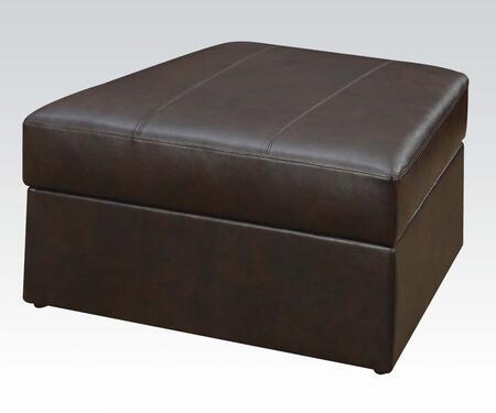 Acme Furniture 50117 Spokane Series Modern Metal Frame Ottoman