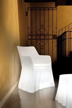Domitalia PHANTOMP000PETRLUP0KL Phantom Series  Plastic Frame  Patio Chair