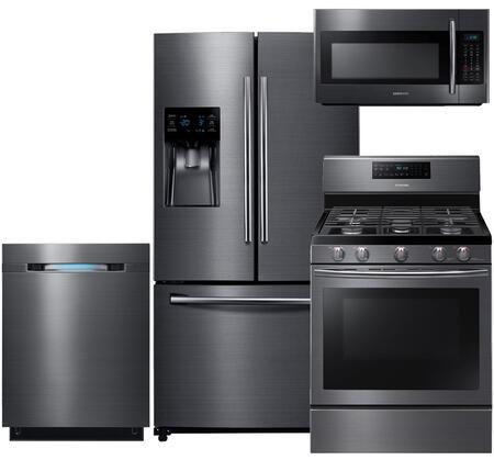 Samsung 550598 Black Stainless Steel Kitchen Appliance Packa