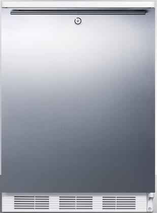 """AccuCold CT66Lx 24"""" CT66J Series Medical Compact Refrigerator with 5.1 cu. ft. Capacity, Factory Installed Lock, Interior Light, Adjustable Thermostat, Clear Crisper, and Door Storage:"""