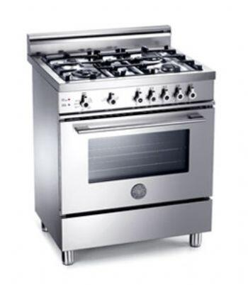 Bertazzoni X304GGVXLPDONOTUSE Professional Series Liquid Propane Freestanding Range with Sealed Burner Cooktop, 2.9 cu. ft. Primary Oven Capacity, Storage in Stainless Steel