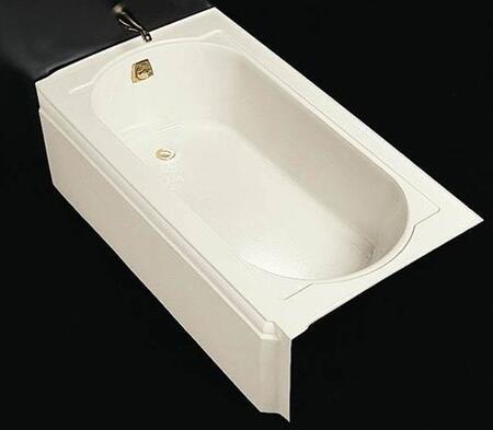 "Kohler K-721- Memoirs Collection 60"" Three Wall Alcove Cast Iron Three Wall Alcove Soaking Bath Tub with Left Hand Drain:"