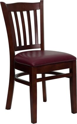 Flash Furniture XUDGW0008VRTMAHBURVGG Hercules Series Contemporary Vinyl Wood Frame Dining Room Chair