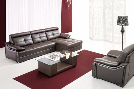 VIG Furniture VGDM2937  Sofa and Chaise Bonded Leather Sofa