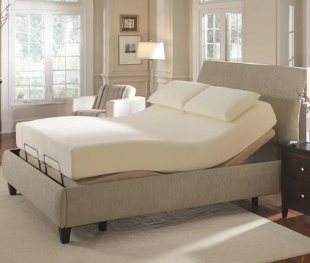 Coaster Premier Pinnacle Adjustable Massage Bed with Wireless Remote Control, Back Lighting, Quiet Motor, Foot Adjustments and Microsuede Fabric Upholstery in Camel Color