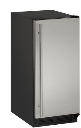 """U-Line U-CLR1215 15"""" 1000 Series Clear Ice Machine with 60 lbs of Daily Ice Production, 30 lbs of Ice Storage, LED Interior, Drain Required and Reversible Door, in"""