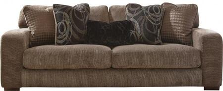 "Jackson Furniture Serena Collection 2276-03 94"" Sofa with Chenille Fabric Upholstery, Five Pillows and Wide Track Arms in"