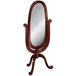 Guidecraft G86205 Classic Espresso Series Oval Portrait Freestanding Mirror