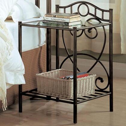 Coaster 300162 Beckley Series  Metal Night Stand
