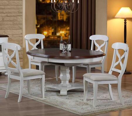 Sunset Trading DLU-ADW4866-C12-AW5PC Andrews Dining Room Set