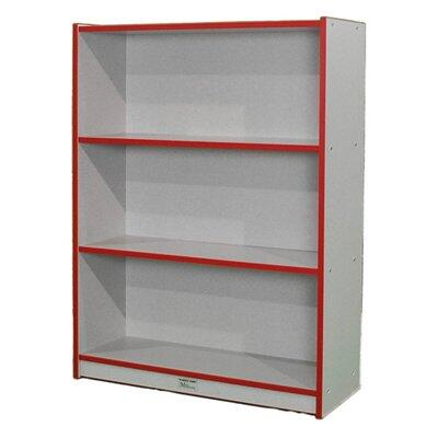 """Mahar N48SCASE 48"""" Single Sided Book Case in Gray Nebula Finish with Edge Color"""