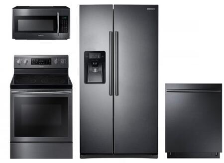 Samsung 730737 Black Stainless Steel Kitchen Appliance Packa