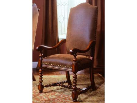 """Hooker Furniture Waverly Place Series 366-75-3 49"""" Dining Room Upholstered Chair with Nail Head Accents, Turned Legs and Fabric Upholstery in Sporty Cognac (Sold in 2 Chairs per Order/Priced Individually)"""