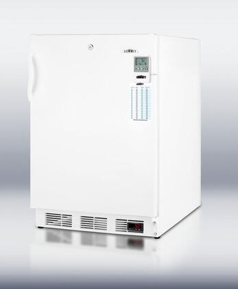 "Summit VT65MLBIMEDDTADA24"" Medical Series Freestanding Upright Counter Depth Freezer"