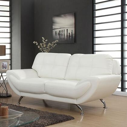 Furniture of America Reanna CM6414XX-LV Loveseat with Tufted Detailing, Stitched Detailing and Breathable Leatherette in