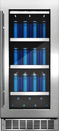 Danby DBC0 Silhouette Professional Series Single Zone Beverage Center with CovetedCold Technology, 3 Shelves, Low E-Glass, Zero-Clearance Hinge System, and LED Lighting, in Fingerprint Resistant Stainless Steel