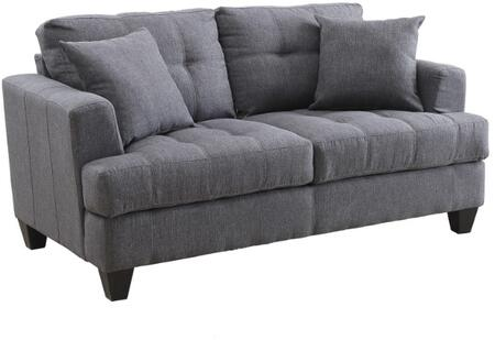 Coaster 505176 Samuel Sofa Series Fabric Stationary with Wood Frame Loveseat