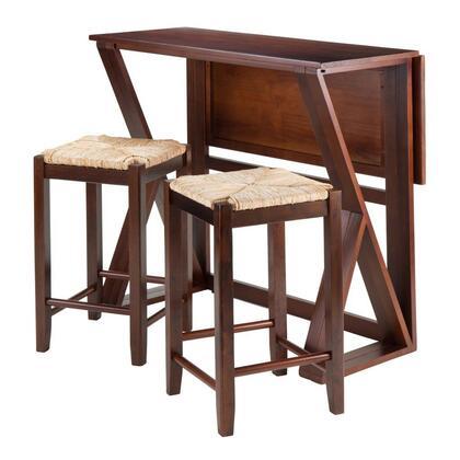 Winsome 943Harr Harrington 3-Pc Drop Leaf Table, 2 Stools