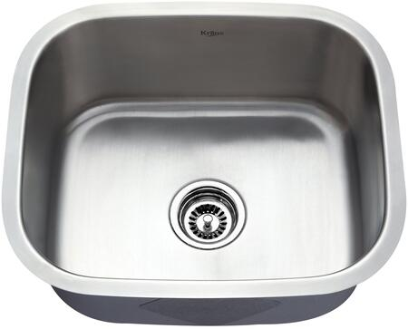 "Kraus KBU11KPF21SD20 Premier Series 20"" Undermount Single-Bowl Kitchen Sink with Stainless Steel Construction, Sound Insulation, and Included Kitchen Faucet"