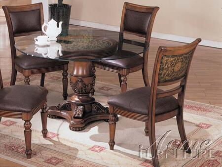 Acme Furniture 06472 Barrett Series Traditional Leather Wood Frame Dining Room Chair