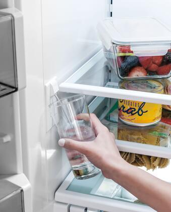Sub Zero Internal Dispenser In Use