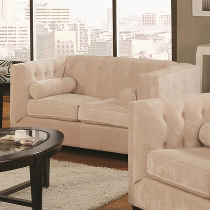 Coaster 504x92 Alexis Transitional Chesterfield Stationary Loveseat with Track Arms